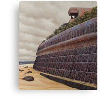 Sea-wall (study), Oil on Linen, 45x40.5cm. Canvas Print