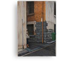 Secret Meeting III, Pencil, 69x48cm. Canvas Print