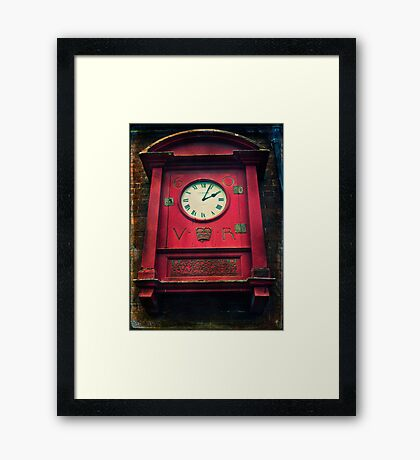 The Old Post Office Clock Framed Print