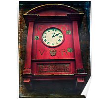 The Old Post Office Clock Poster