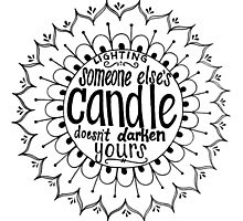 Light someone's candle zentangle medallion Photographic Print