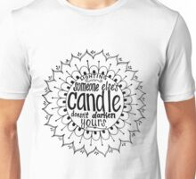 Light someone's candle zentangle medallion Unisex T-Shirt