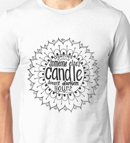 Light someone's candle zentangle medallion Unisex T-Shirt