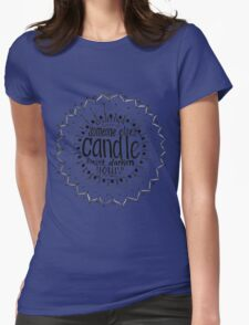 Light someone's candle zentangle medallion Womens T-Shirt