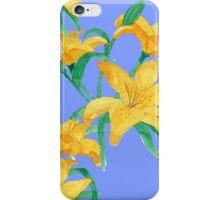 Yellow lili  flower iPhone Case/Skin