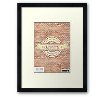 Gene's Parmesan Logo - Arrested Development Framed Print
