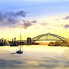 Sydney Harbour Sunset by Joe Cartwright