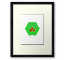 Simple Metroid Framed Print