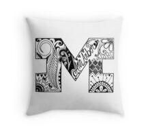 Michigan Block M  Throw Pillow