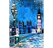 Winter in London Photographic Print