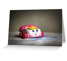 first mobile phone Greeting Card
