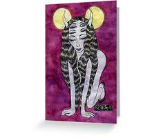 Reverb Monster Girl Greeting Card