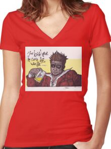 Fight Club #4 It Could Be Worse... Women's Fitted V-Neck T-Shirt