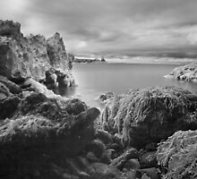 Trefalen Cave - Infra Red. Pembrokeshire Coast by Mark Haynes Photography