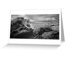 Trefalen Cave - Infra Red. Pembrokeshire Coast Greeting Card