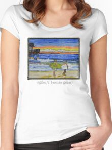 surf art Women's Fitted Scoop T-Shirt