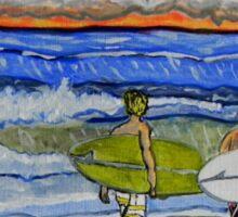 surf art Sticker