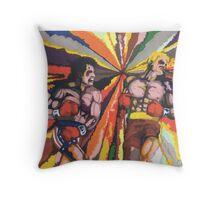Rocky vs Drago Throw Pillow