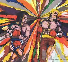 Rocky vs Drago by Spencer Holdsworth Art