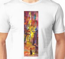 Medieval alley by night in Florence Unisex T-Shirt