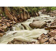 Cascading Colorado Rocky Mountain Stream Photographic Print