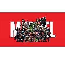 Marvel Heroes Photographic Print