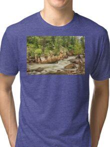 Cascading Colorado Rocky Mountain Stream Tri-blend T-Shirt