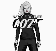 Natalie Dormer is Bond - Black and White Version Womens Fitted T-Shirt