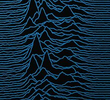 Unknown Pleasures #1 Blue Waves by electricwarrior