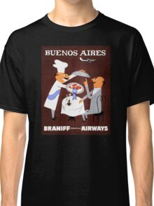 Buenos Aires Vintage Travel Poster Resored Classic T-Shirt