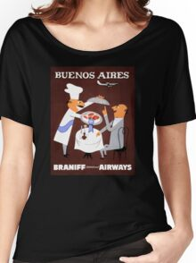 Buenos Aires Vintage Travel Poster Resored Women's Relaxed Fit T-Shirt