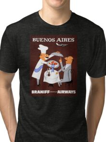 Buenos Aires Vintage Travel Poster Resored Tri-blend T-Shirt