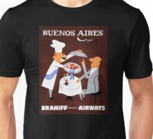 Buenos Aires Vintage Travel Poster Resored Unisex T-Shirt