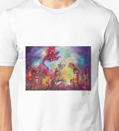 GARDEN OF THE LOST SHADOWS  / FLYING RED DRAGON Unisex T-Shirt