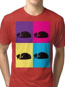 Pop Art Tabby 002  Tri-blend T-Shirt