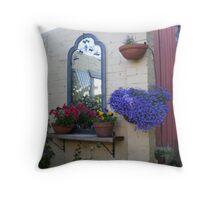 Petunias, pansies and lobelia. Throw Pillow