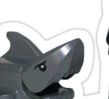 LEGO Surfer and Shark Sticker