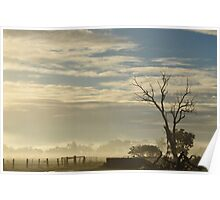 Blue Sky Sunrise Poster