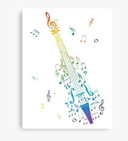 Violin with Notes 3 Canvas Print