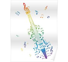 Violin with Notes 3 Poster