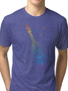 Violin with Notes 3 Tri-blend T-Shirt