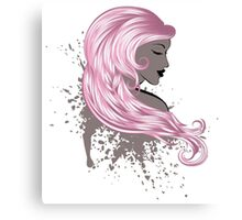 Woman with Long Hair3 Canvas Print