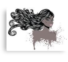 Woman with Long Hair4 Canvas Print