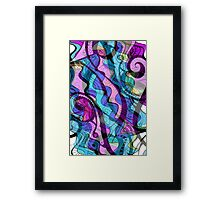 Riding the Wild Doodles Framed Print