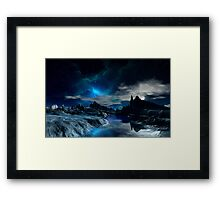Worlds of the Blue Nebula Framed Print