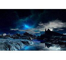 Worlds of the Blue Nebula Photographic Print