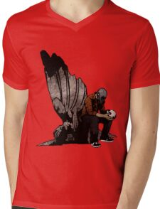 The Angel And The Skull Mens V-Neck T-Shirt