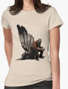 The Angel And The Skull Womens Fitted T-Shirt