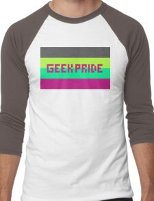 Geek Pride (Purple Font) Men's Baseball ¾ T-Shirt