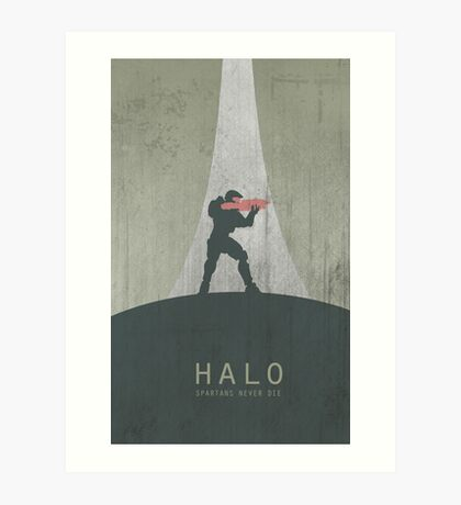 Halo Master Chief Game Poster Art Print